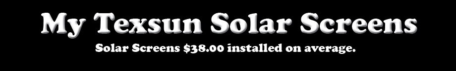 Texsun Solar Screens Guarantee